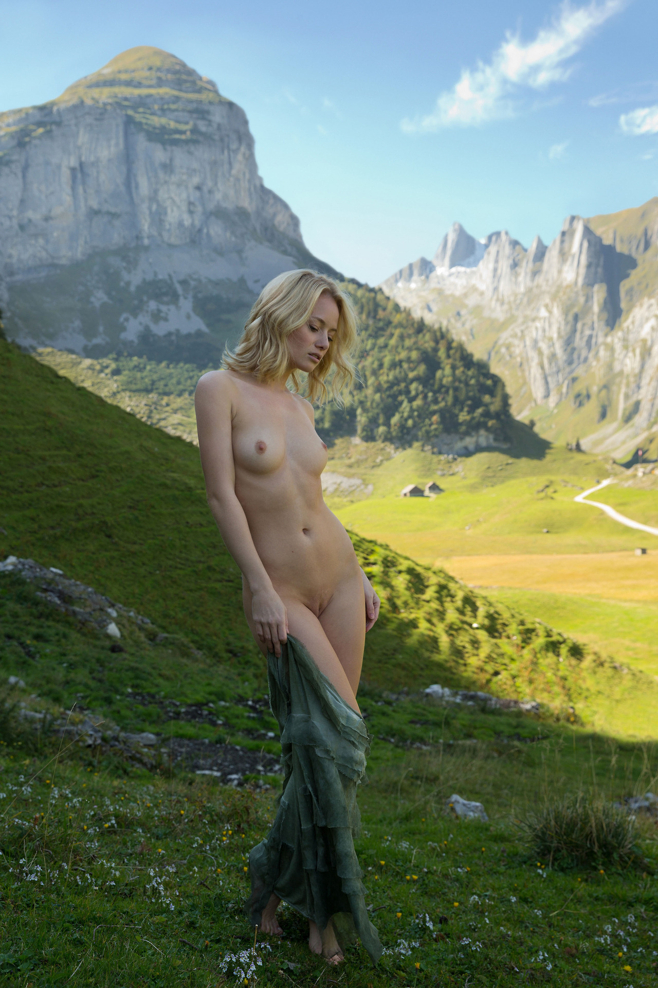 Cold mountain nude