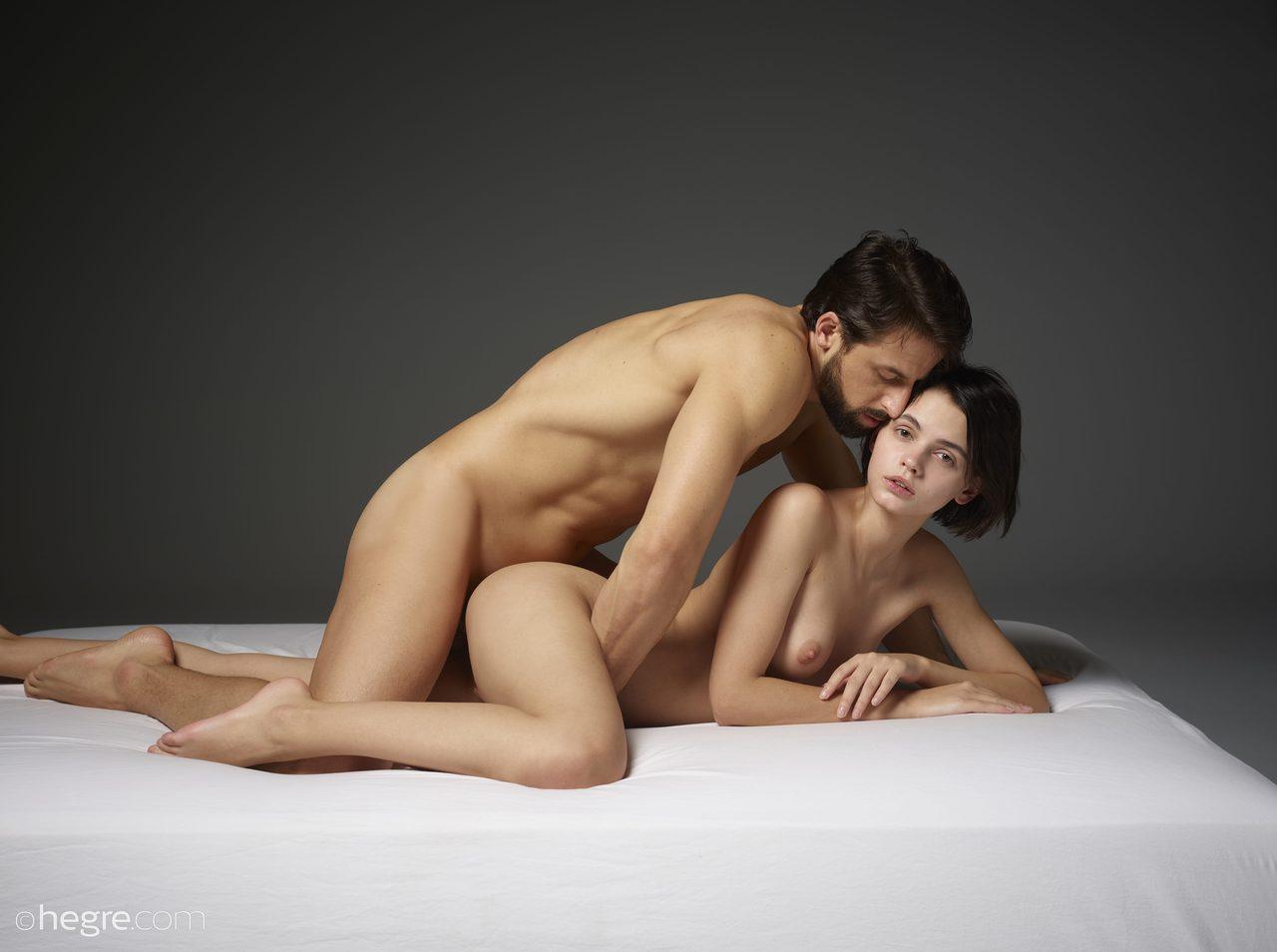 Nude Couple Taking Hot Selfie
