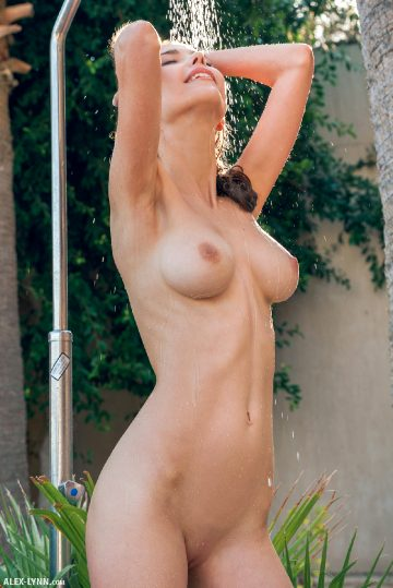 Alex Lynn Mila Azul Outdoor Shower