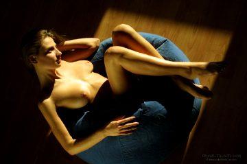 Alexanderfedorov Misha Blue Cushion