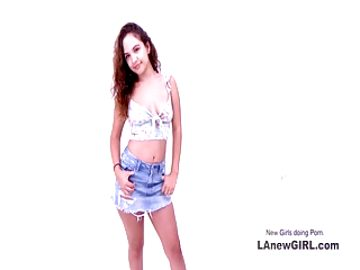 Amazing teenie sucks cock at modeling audition
