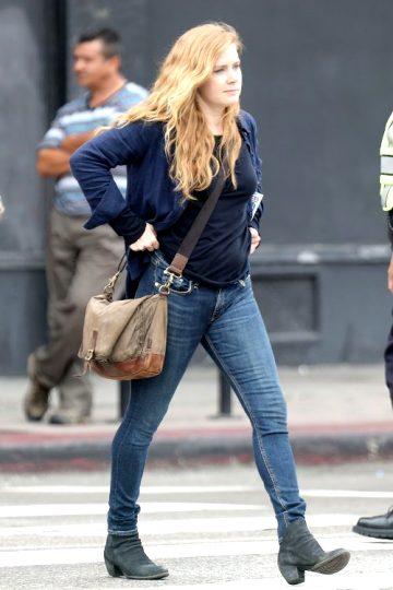 Amy Adams On Movie Set