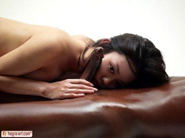 Asian Teen Giving Hot Oil Cock Massage Sexy Asian Konata Tokyo Massage