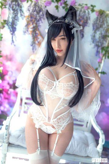 Atago 'Wedding Night Bride' Boudoir From Azur Lane – By Pialoof