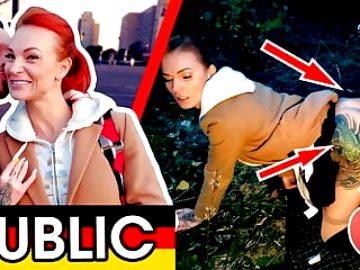 BANGED behind German billboard! KESSIE SHY Dates66.com