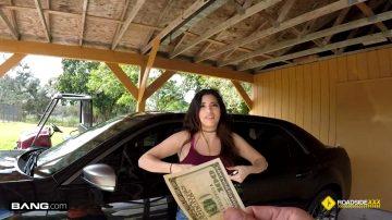 Big Titty Latina Fucks Mechanic In The Garage