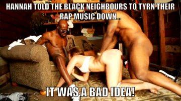 Black guys making her their slut