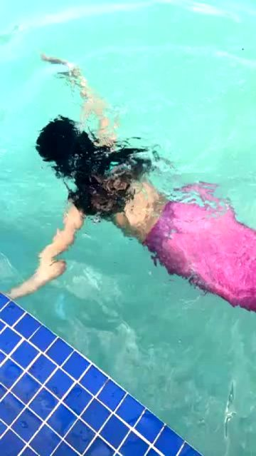 Camila Cabello Swimming In A Thong
