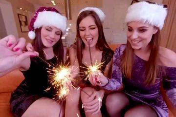 """Cindy Shine, Antonia Sainz, & Elena Vega """"I Brought A Special Present For Xmas"""""""