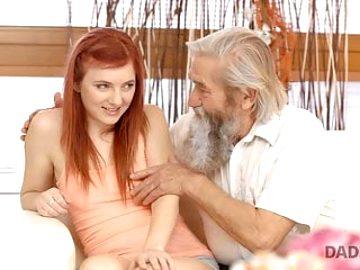 DADDY4K. Mature dad of boyfriend tastes teen pussy