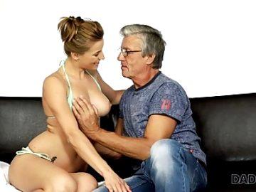 DADDY4K. Nice girl Victoria has a crush on her boyfriend