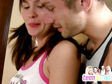 Deluxe skinny teen trouble fuck with close holes 57