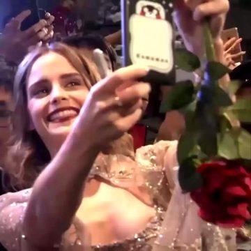 Emma Watson Taking A Selfie With Fans