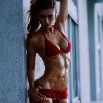 Fit Babe In A Red Bikini