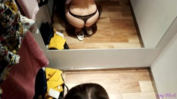 Fitting Room Blowjob