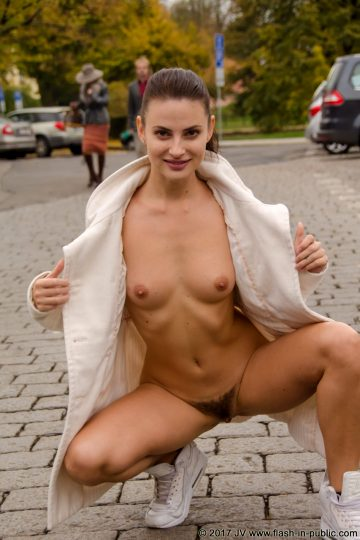 Flash-in-public Alina A – In A Park