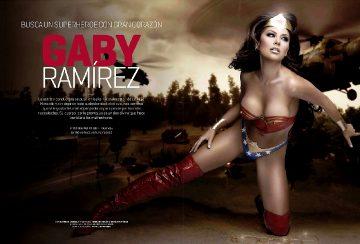 Gaby Ramirez Wonder Woman Bodypainting Part 1