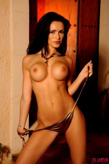Gemma Massey – Gold Bikini