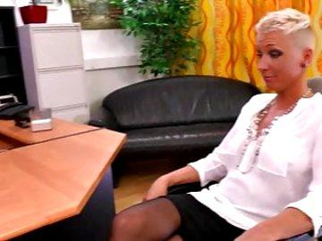 German milf Mandy fucks with her Boss