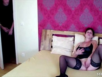 German Redhead Mom Caught by Step-Son and Seduce to Fuck