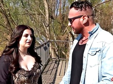 GERMAN SCOUT – Chubby Teen Elisa Cheat BF and Street Casting