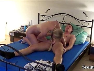 GERMAN TEEN COUPLE IN REAL HOMEMADE Porn Movie with Facial