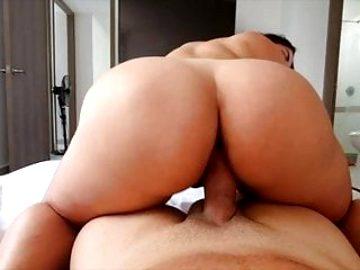 Girlfriends Sucks Dick Then Rides Cowgirl Big Ass Big Tits
