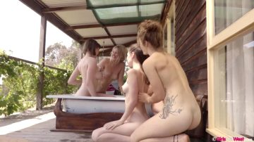 GirlsOutWest – Eva Juniper Juno Luci And Pixie – Out Bush Part 1