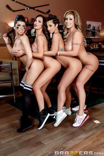 Halftime Show Eva Notty, Jada Stevens, Nikki Benz, Romi Rain Pornstars Like It Big