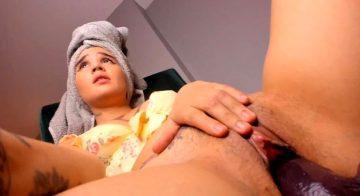 Head Towel And A Dildo