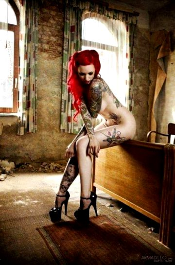 High Heels With Red Hair