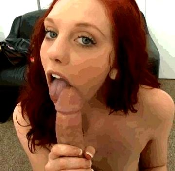 Innocent Looking Redhead With Beautiful Eyes
