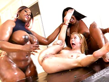 Interracial Lesbian Ice Cream Party