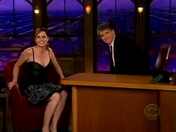 Jenna Fischer Low Cut Dress On The Late Late Show
