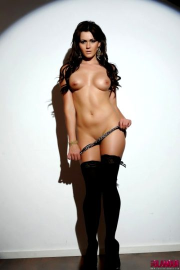 Kat Dee – Black Lingerie With Stockings