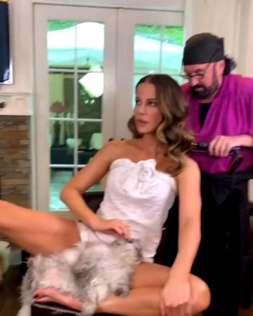 Kate Beckinsale Getting Ready…