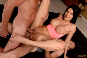 Kitana Lure Busty Yoga Girl Double Penetration