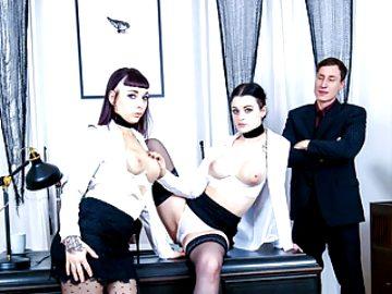 LETSDOEIT – German Lesbians Fuck In Front Of Their Boss