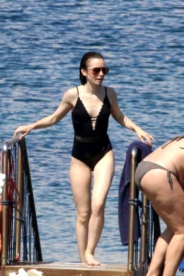 Lily Collins At The Beach
