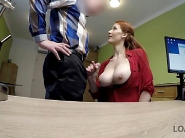 LOAN4K. Agent screws busty redhead Isabella Lui because