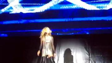 Marta Sánchez Wardrobe Malfunction On Stage