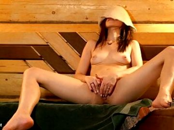 Masturbation in Russian! Beautiful Girl shows her Hole!