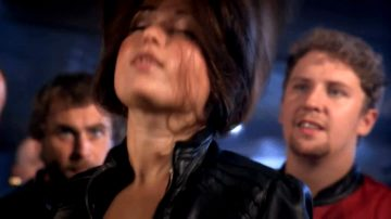 Milana Vayntrub- Leather Jacket And Lots Of Hair