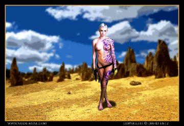 Nude-muse Erin – The Siren