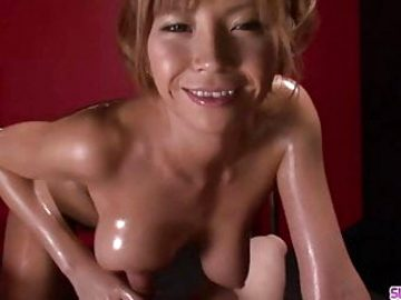 Oiled Up Teen Sumire Matsu Sucks Di – More at Slurpjp.com