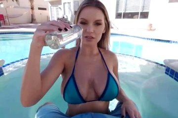Oily Bikini Pool Reveal