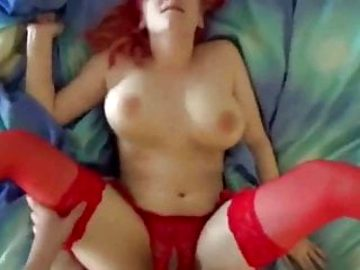 Redhead Busty Babe Paying For Rent With Her Wet Pussy