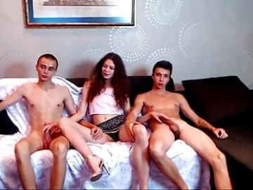 Russian trio blow job part 1