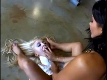 Sandra Romain Bitchslaps Annette Schwarz – Repeatedly And Hard.