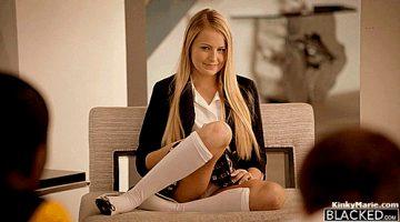 Scarlett Sage – Rich Blond Girl First Huge Black Cock – Blacked